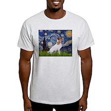 Starry Night & Jack Russell Terrier T-Shirt