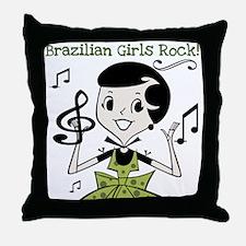 Brazilian Girls Rock Throw Pillow