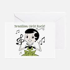 Brazilian Girls Rock Greeting Cards (Pk of 10)
