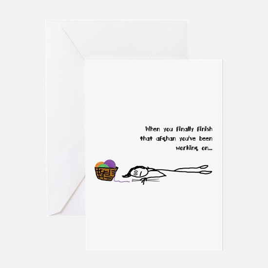 Humorous weary crafter Greeting Cards