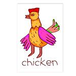 Kid Art Chicken Postcards (Package of 8)