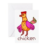 Kid Art Chicken Greeting Cards (Pk of 10)