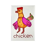 Kid Art Chicken Rectangle Magnet