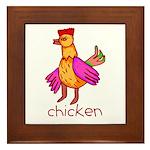 Kid Art Chicken Framed Tile