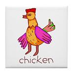 Kid Art Chicken Tile Coaster