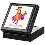 Kid Art Chicken Keepsake Box