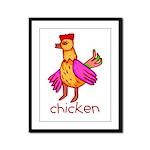 Kid Art Chicken Framed Panel Print