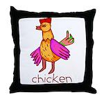 Kid Art Chicken Throw Pillow