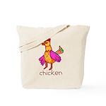 Kid Art Chicken Tote Bag