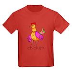 Kid Art Chicken Kids Dark T-Shirt