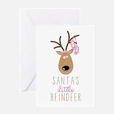 Santas Reindeer Greeting Cards