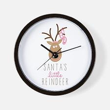 Santas Reindeer Wall Clock