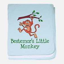 Bestemor's Little Monkey baby blanket