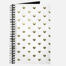 Gold Hearts Journal