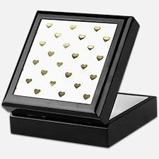 Gold Hearts Keepsake Box