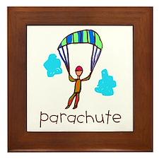 Kid Art Parachute Framed Tile