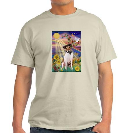 Autumn Sun & Jack Russell Terrier Light T-Shirt