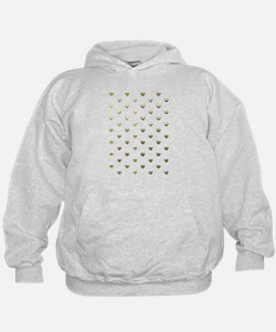 Gold Hearts Hoodie