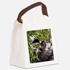 Bald Eagle Family Canvas Lunch Bag