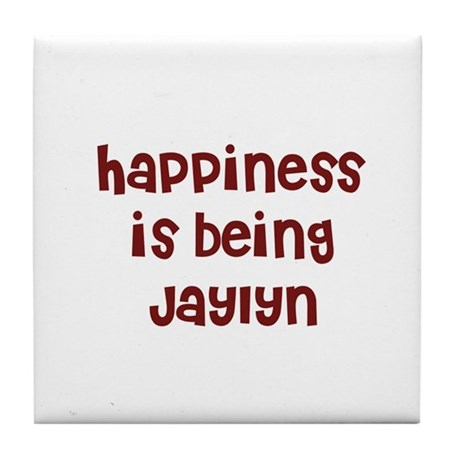 happiness is being Jaylyn Tile Coaster