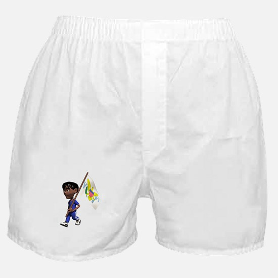 US Virgin Islands Boy Boxer Shorts