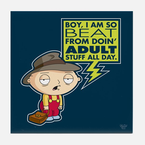 Family Guy Stewie Adult Tile Coaster