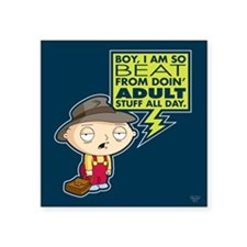 "Family Guy Stewie Adult Square Sticker 3"" x 3"""