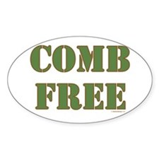 Comb Free Oval Decal