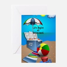 Retirement - Colorful Beach Theme Greeting Card