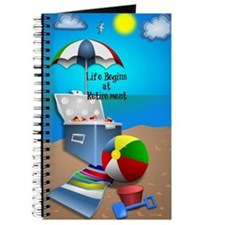 Retirement - Colorful Beach Theme Journal