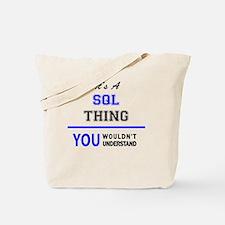 Cute Sql Tote Bag