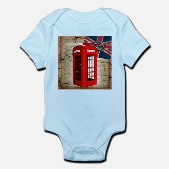 union jack telephone booth Body Suit