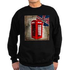 union jack telephone booth Sweatshirt
