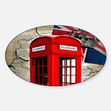 union jack telephone booth Decal