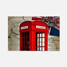 union jack telephone booth Magnets
