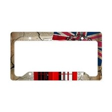 union jack telephone booth License Plate Holder