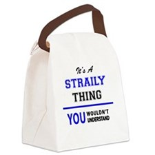 Funny Stray Canvas Lunch Bag