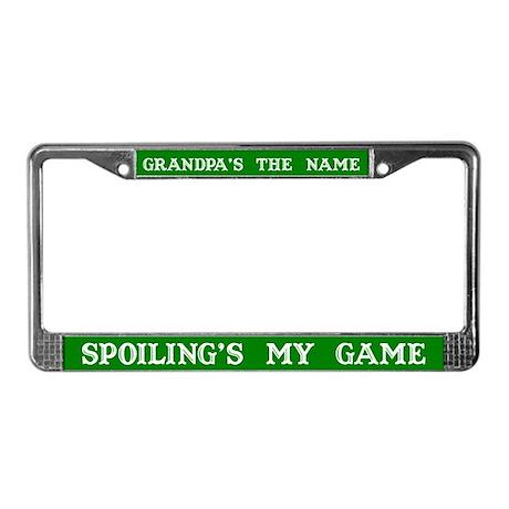 Grandpa's Name #2 License Plate Frame