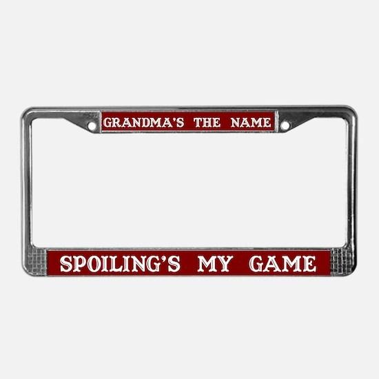 Grandma's Name License Plate Frame