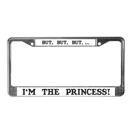 The Princess (White) License Plate Frame