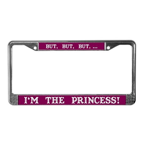 The Princess (Red) License Plate Frame
