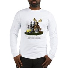 Moose Camping Long Sleeve T-Shirt
