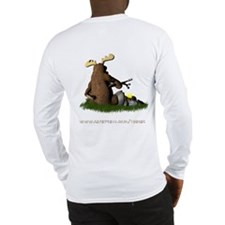 Moose Camping Long Sleeve T-Shirt