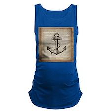nautical vintage anchor Maternity Tank Top