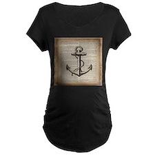 nautical vintage anchor Maternity T-Shirt