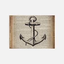 nautical vintage anchor 5'x7'Area Rug