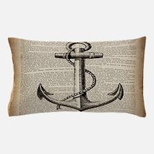 nautical vintage anchor Pillow Case