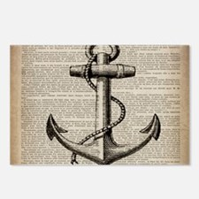 nautical vintage anchor Postcards (Package of 8)