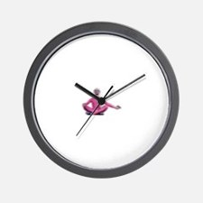 Unique Pink peace Wall Clock