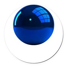 Reflective Blue Ball Round Car Magnet